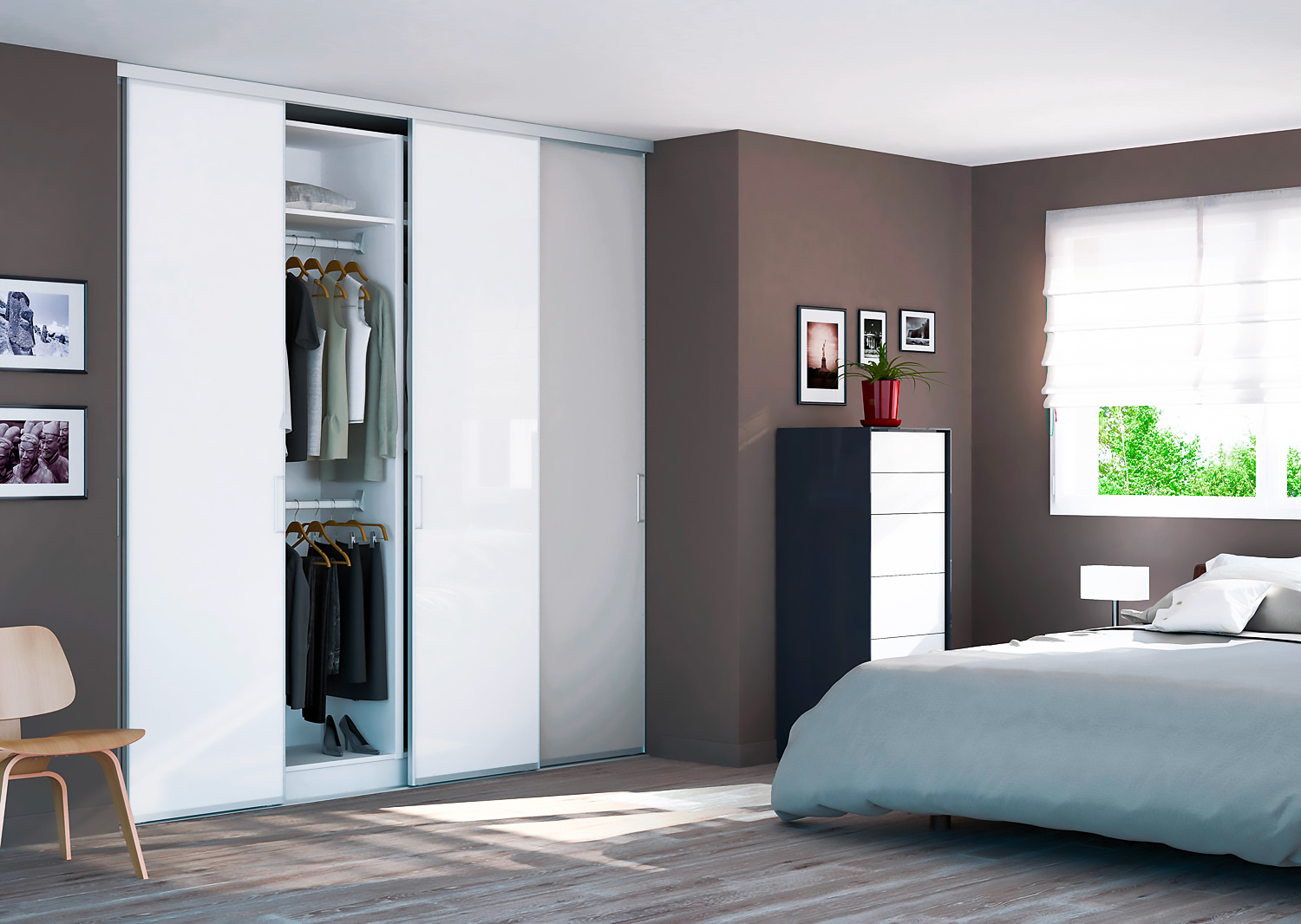 comment installer des portes de placard coulissantes. Black Bedroom Furniture Sets. Home Design Ideas
