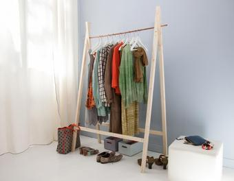 Un portant pour les vêtements